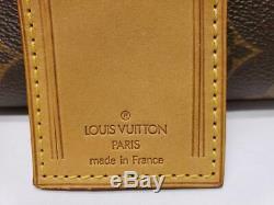 Auth Louis Vuitton Grand Leather ID Bagages Nom De La Balise Et Poignet 133