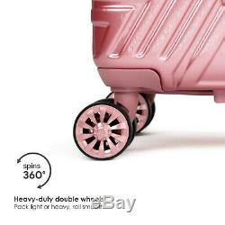Badgley Mischka Contour Spinner Luggage Set (2 Pièces) Noir / Rose Or / Argent