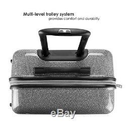 Badgley Mischka Essence 3 Piece Spinner Set Dur-bagages (chevrons)