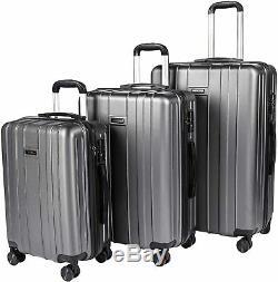 Bagages 3 Pièces Ensemble Carryone Valise Abs Hardshell Légère Tsa Serrure À 4