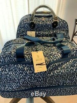 Baggallini Roulement Bleu Prism Set Voyage Carry-le Duffle Bag Valise À Roulettes