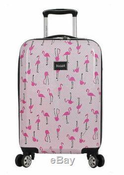 Betsey Johnson Ensemble Flamingo Strut 20 Hardside Carryon Spinner