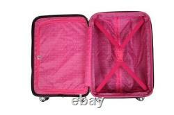 Betsey Johnson Expandible 3 Pièces Hardside Spinner Bagage Set Flamingo Strut