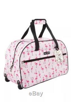 Betsey Johnson Flamingo 20 Hardside Carryon Spinner Valise & 22 Set Duffle