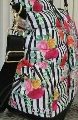 Betsey Johnson Floral Tote Weekender Set Sac De Voyage 3 Pc Cosmétiques & Portefeuille T.-n.-o.