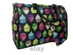 Betsey Johnson Weekender Bag Bag Tote & Wristlet Cup Cakes 2 Piece Set T.n.-o.