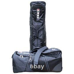 Big Max Denver Golf Club Bag Travel Cover Set Wheeled Luggage Flight Carry Case