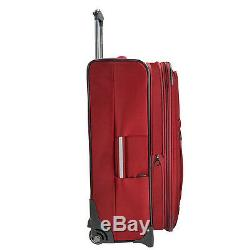 Birmingham Rouge Résistant À L'eau Robuste Rolling Luggage Set Valise Voyage