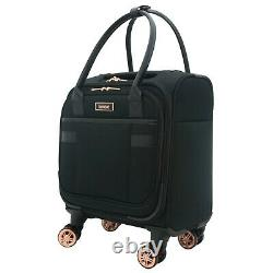 Black 3pc Exp Doux Spinner Luggage Set Avec 28, 20 Et 16 Places Sous