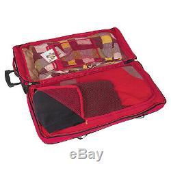 Bogi Bag Set Reisetasche 110 L Chariot Waschtasche Kosmetiktasche Rot Schwarz