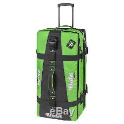 Bogi Sac Koffer Reisetaschen Set 2-tlg XXL Chariot + Washbag Grün Schwarz