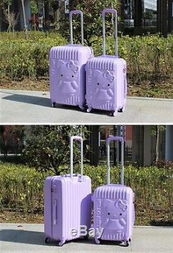 Bonjour Kitty 24 Et 14 Chariot Spinnr Abs Bagages Voyage Set-3 Couleurs
