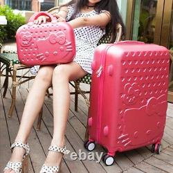 Bonjour Kitty 28 Trolley Haute Qualité Abs Valise Bagages Voyage Set-6 Couleurs