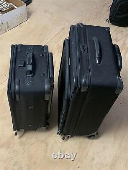 Briggs & Riley Black 2 Pièces En Rouleau De Bagages/cuirs Extensibles 24 Et 20