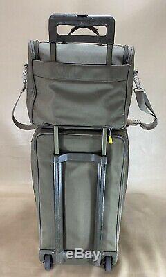 Briggs & Riley Olive Set 26 Vertical De Split Roues Duffle Bag & Sac De Toilette
