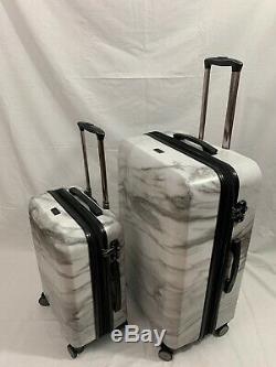 Calpak Astyll Milk Marble 2 Piece Luggage Set, Blanc