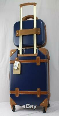Chariot Titanic 2 Pc. Hardside Spinner Carry On Luggage Set Bleu Marine