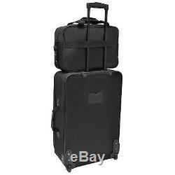 Choice Voyageur Ultime 5 Pièces Noir Expandable Luggage Set Sac Fourre-tout Vêtement