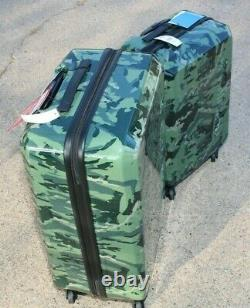 Columbia Maple Trail 2 Piece Hardside Spinner Luggage Set Green Camo T.n.-o. 600 $