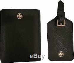Conservateur Burch Emerson Saffiano Passeport En Cuir Porte-monnaie Étiquette De Bagage Voyage Gift Set