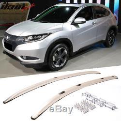 Convient Pour 16-18 Honda Hrv Vezel Ensemble De Galerie De Toit En Aluminium Brossé De Style Usine