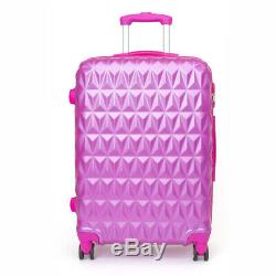 Coquille Rigide Valise Trolley Valise 4 Roues Spinner Valise Rose