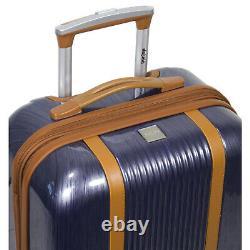 Dejuno Monroe 3-piece Hardside Spinner Tsa Combination Lock Luggage Set Bleu