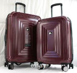 Delsey Réflexion 2 Piece Luggage Set Hardside Spinner Bourgogne