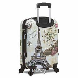 Destination World Traveler 3 Pièces Hardside Spinner Luggage Set Paris