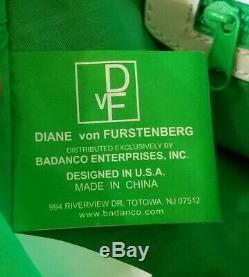 Diane Von Furstenberg Rose Valise Bagage À Main Set Heart Love Logo