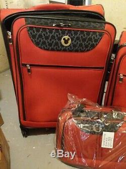 Disney 3 Pièce Pc Jamais Utilisé 2007 Luggage Set De Disney Achats Magasin Spinner