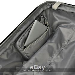 Elite 2 Pièces 21 29 Usb Smart Port Hardside Expandable Spinner Luggage Set
