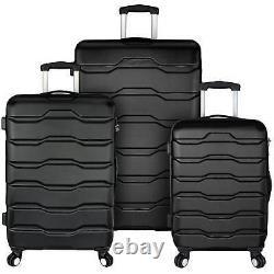 Elite Bagage Omni 3-piece Hardside Ensemble De Bagages Antivol Léger