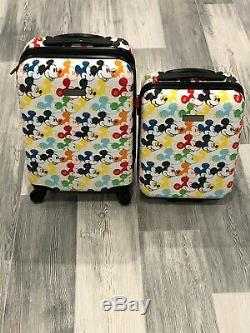 Enfants Disney Mickey Mouse American Tourister Bagages Carry Le 2-pc Set 20 & 18