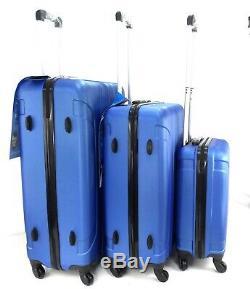 Ensemble De 3 Roulettes À Roulettes Légères De 3 Valises À Voyage Bleues