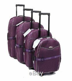 Ensemble De 4 Valises Valise Légère Roue Valise Trolley Voyage Bagages Violet