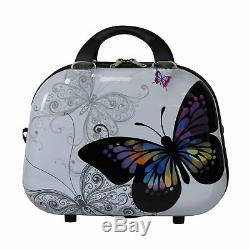 Ensemble De Bagage À Main Avec Bagage À Roulettes 2 Pièces World Traveller Butterfly