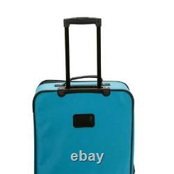 Ensemble De Bagages Rockland Polyester Carry-on Bag Softside 4 Roues Turquoise (4 Piece)