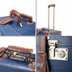 Ensemble De Valise Vintage Premium Co-z Avec Valise Trolley Et Sac À Main