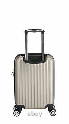 Euro Style Collection 3 Pièces Sets De Bagages Abs Trolley Spinner Valise