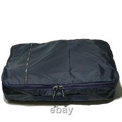 Ferragamo Navy Blue Packing Cubes Storage 3 Three Bag Luggage Organizer Ensemble Cadeau