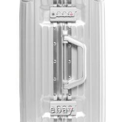 Gabbiano Aurora 2 Pièces En Aluminium Cadre Hardside Spinner Bagage Set Argent