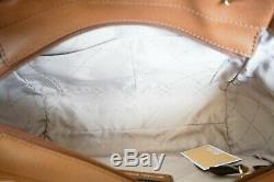 Grand Nwt Michael Kors Jet Set Voyage Chaîne Sac Fourre-tout Mk Vanilla Brown (bagages)