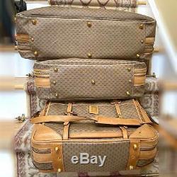 Gucci Monogramme Vintage Bagages Voyage Valises Set De