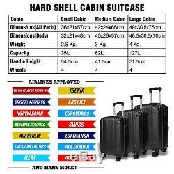 Hard Shell Cabin Grande Valise Avec 4 Roues Lightweight Voyage Chariot À Bagages