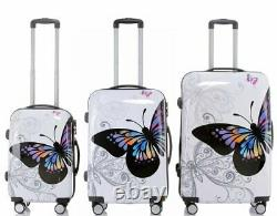 Hard Shell Case Cabine 4 Roues Spinner Trolley Bagage Valise Voyage De Vacances