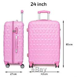 Hard Shell Pc + Abs Cabine Valise 4 Roues Voyage Chariot À Bagages Légers Case