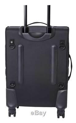 Harley-davidson Onyx Matelassée 3 Pièces Roues Voyage Luggage Set Noir Élégant