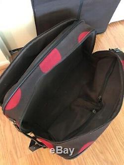 Hartmann Luxe Cranberry À Pois 3 Piece Set Rolling Luggage Sac Fourre-tout En Cuir