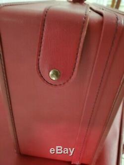 Hartmann Vintage Deep Red 2 Pièces Avec Bagages Touches Belle Clean Set